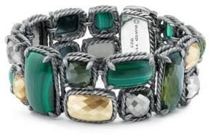 David Yurman Chatelaine® Mosaic Bracelet With 18K Gold Domes, Green. Onyx jewelry. I'm an affiliate marketer. When you click on a link or buy from the retailer, I earn a commission.