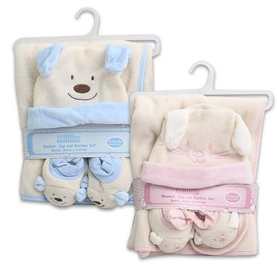 "Little Mimos Baby Blanket 3-piece Set 30"""