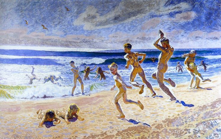 Sun and Youth - Jens Ferdinand Willumsen 1909