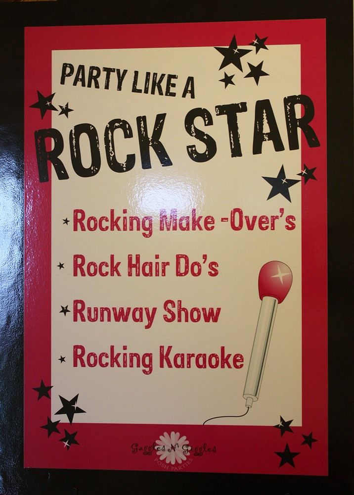 what to do at a Rock Star Party