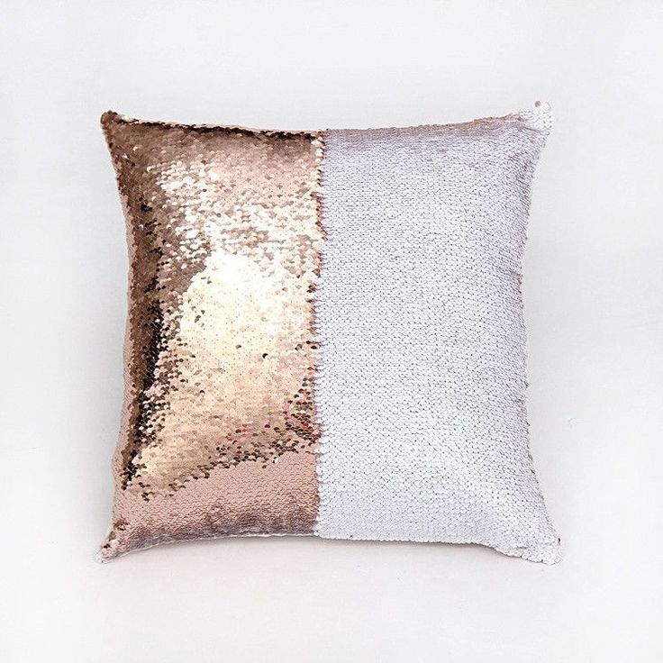 Factory Selling Two Tone Sequins Throw Pillow Covers Continental Mermaid  Decorative Pillow Cushion Cases Sofa Car
