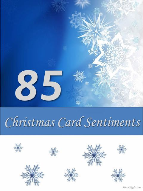 85 Christmas Card Sentiments: Ever struggle with what to write in all of your Christmas cards? These 85 sentiments are sure to inspire you to send a meaningful message to all of your friends and family this holiday season!