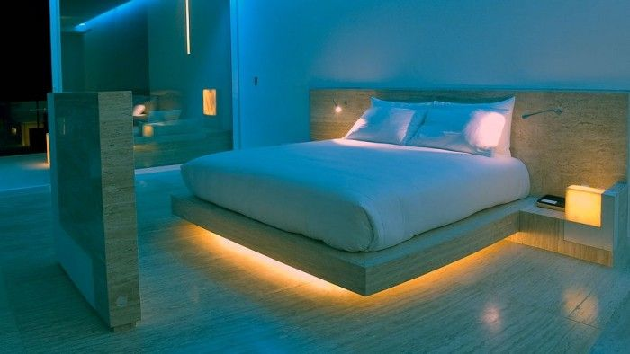 Fascinating Platform Bed With Underbed Led Lighting Modern
