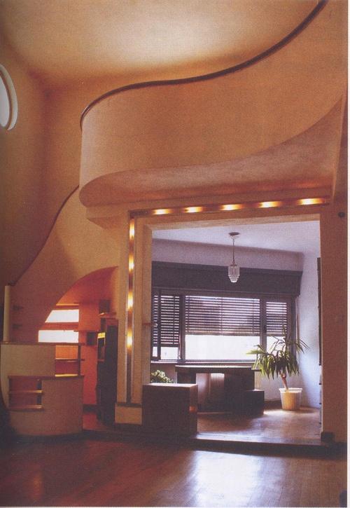 Interior apartamento edificio Hristo Botev, 34 Marcel Iancu 1934 (by Alhucemas) #interiordesign #architecture #stairs