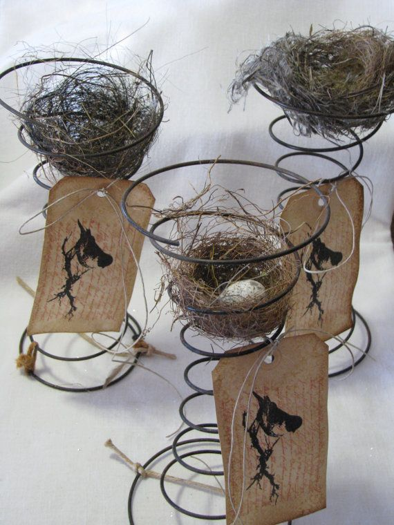 Great idea for table numbers or place cards & we have TONS of old bed springs in the garage at the farm!