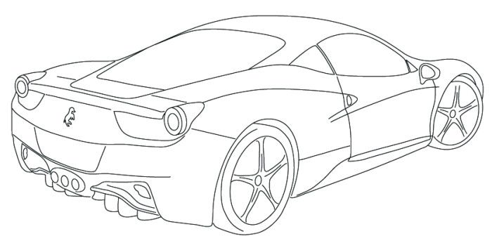 Colouring Pages Ferrari Car : Ferrari italia f coloring page pinterest