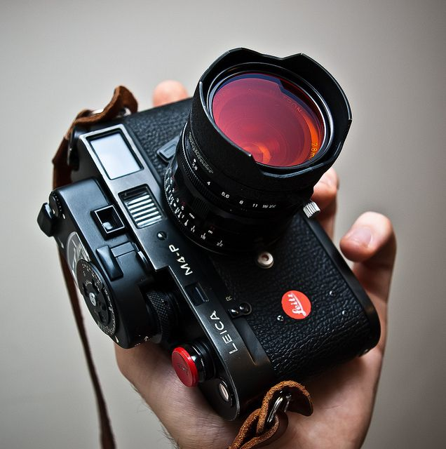 Leica M4-P with orange filter by chiscocks