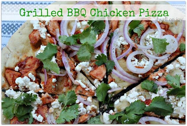 Grilled Barbecue Chicken Pizza Recipe — Dishmaps