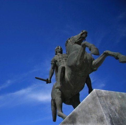 Alexander the Great - sculpture in Thessaloniki capital of Macedonia