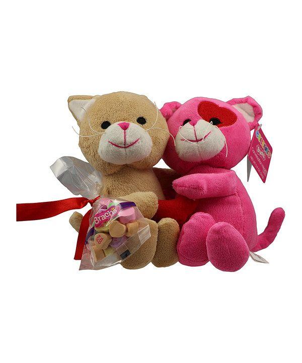 valentines day cat plush