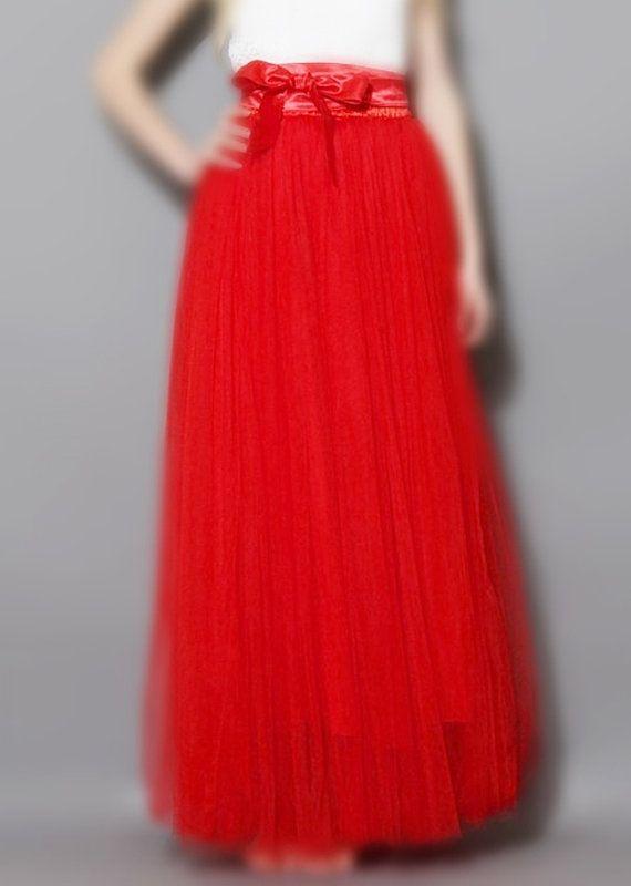 SALE Red Tutu Skirt Tulle Adult By StarJasmine33