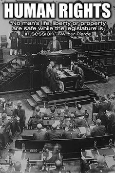 No man's life, liberty, or property are safe while the legislature is in session. Wilbur Pierce.