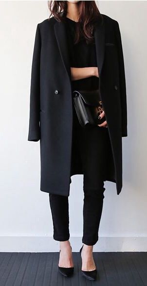 17 Best ideas about Black Coats on Pinterest | Black coat outfit