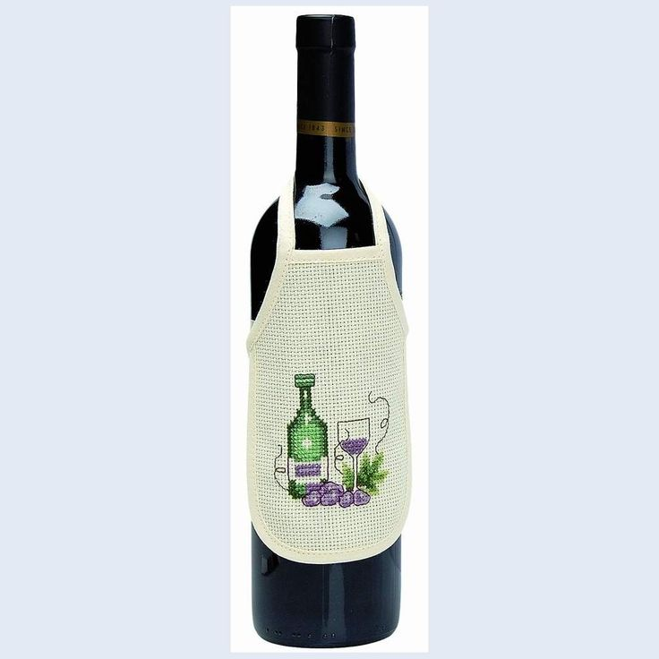 Bottle Aprons Wine - counted cross stitch kit Permin