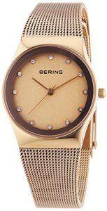 Bering Time – 12927-366 – Montre Femme – Quartz Analogique – Bracelet Acier Inoxydable Or et Rose