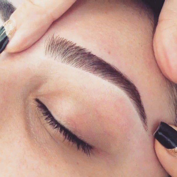Technique For Eyebrows Ombre Powdered Eyebrows Eyebrow Makeup