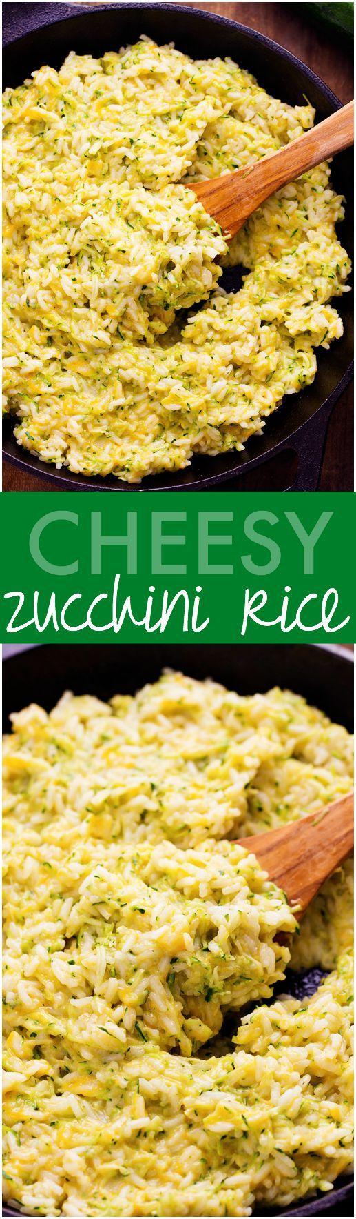 Zucchinireis mit Käse