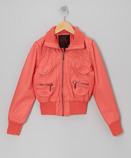 Coral Zip-Up Jacket - Toddler & Girls
