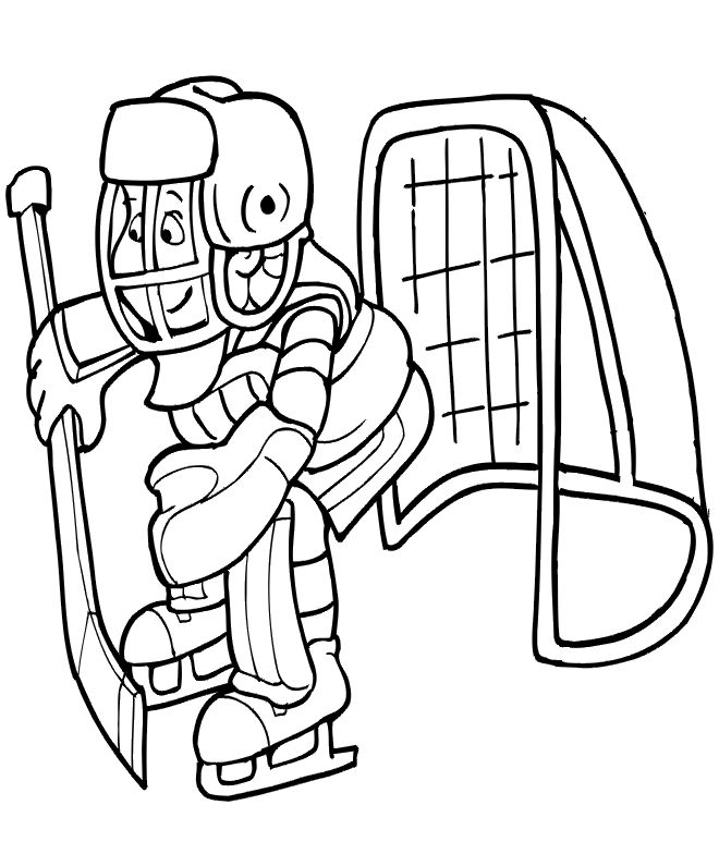 goalie coloring page