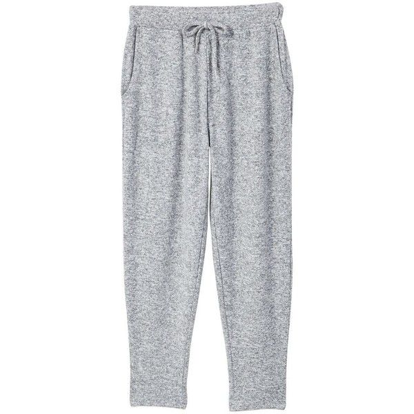 MANGO Flecked baggy trousers ($30) ❤ liked on Polyvore featuring pants, bottoms, mango pants, elastic waist pants, mango trousers, stretch waist pants and draw string pants