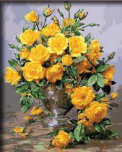 Стены искусства quadros фотографии для гостиной живописи по номерам diy масло холст краска Раскраска Home decor Ван Гог цветы m462(China (Mainland))