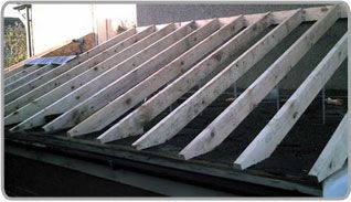 how to build a pitched roof over a flat roof - Google Search