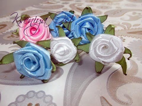 Кремовые розы.Шпильки для невесты.AVI - YouTube