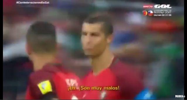 """Cristiano Ronaldo le dijo a Pepe, antes del arranque del segundo tiempo del duelo entre México y Portugal: """"Eh, son muy malos; son muy malos """". ¿A quién se refería el astro de la selección lusa? ¿A los jugadores del Tri? Argumentos tendría para considerarlo, luego de error de Carlos Salcedo, que derivó en el gol de Ricardo Quaresma."""