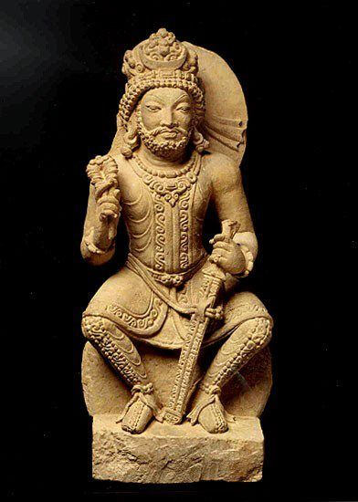 The Persian god Verethragna, god of victory and strength ...