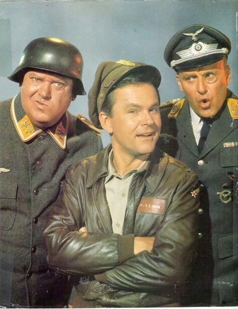 """""""Hogan's Heroes"""" - Bob Crane, Werner Klemperer and John Banner."""