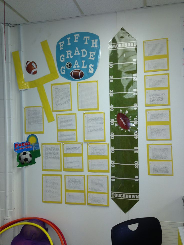 5th grade goals sports theme classroom completed