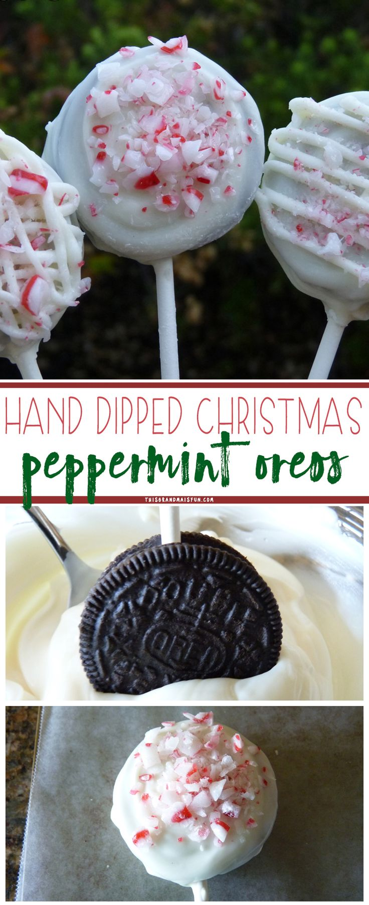 Peppermint Oreo Pops are quick and easy to make, no baking required. A perfect gift for friends and neighbors, be careful they are addicting!