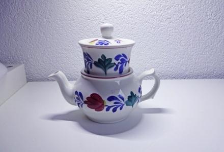 Klein Boerenbont Koffiepotje met Filter