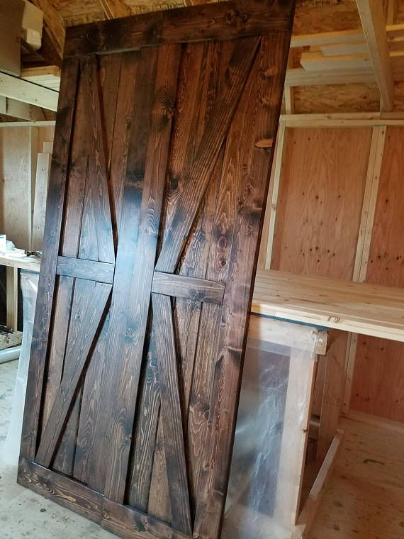 Interior Double British Brace Barn Door Package - Double