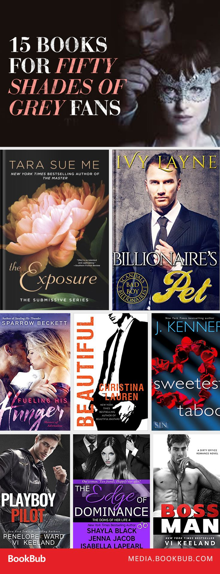 15 books to read for fans of Fifty Shades of Grey, including reads from J. Kenner and Christina Lauren.