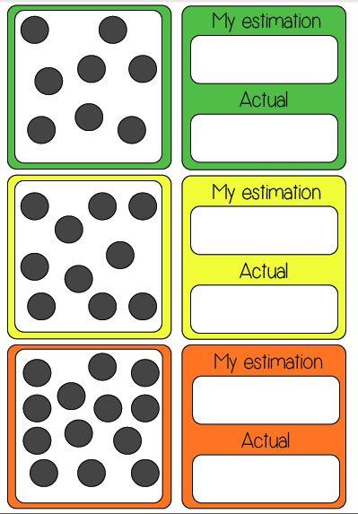 estimating number card game matem ticas peques pinterest number math and gaming. Black Bedroom Furniture Sets. Home Design Ideas
