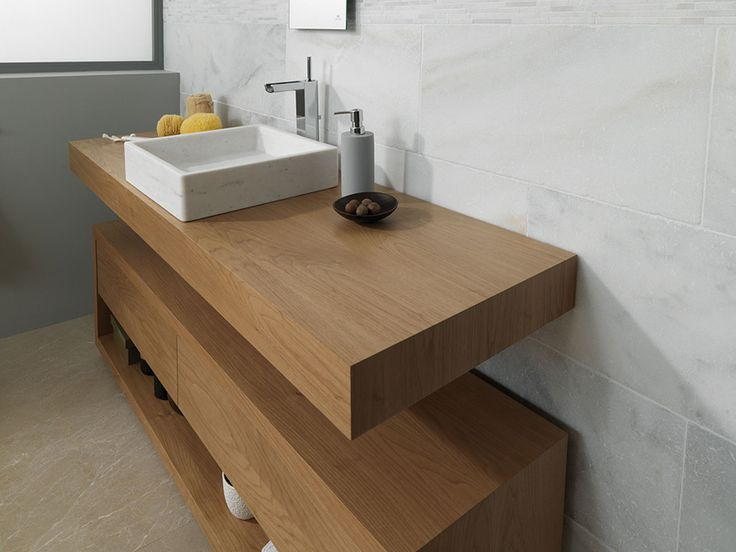 Hampton nogal warm 160x44x40 cm porcelanosa pinterest - Mueble bajo lavabo ...