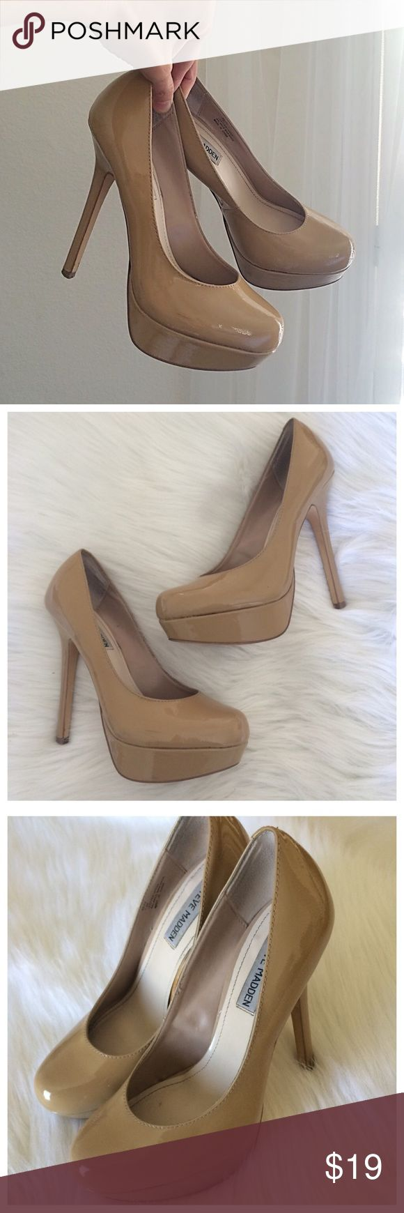 """Steve Madden high heels sz 7.5 Gorgeous Steve Madden 1.25"""" platform. Regular wear on soles, and they have barely visible scuffs, caps are excellent condition, overall these heels are in excellent condition. Heel height:5"""". Steve Madden Shoes Heels"""