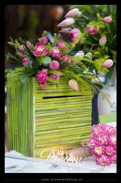 Kết quả hình ảnh cho trang trí đám cưới bằng hoa sen