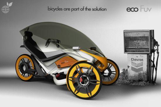 Eco FUV urban bicycle concept for clean green city ride | Designbuzz : Design ideas and concepts