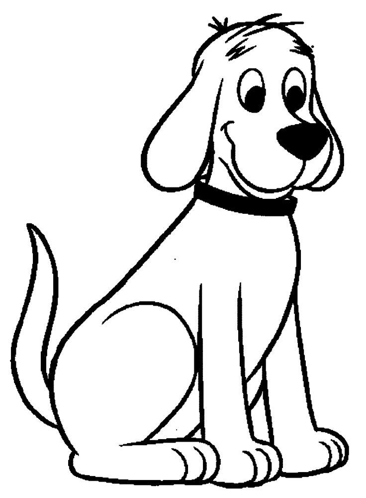 clifford the big red dog coloring pages  dog coloring