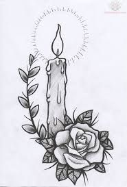 Image result for candle tattoo