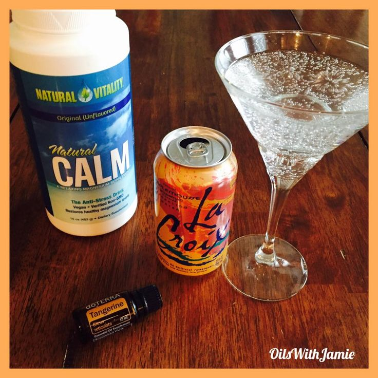 You have to try this! I was inspired by @hillarylamay! This drink has Natural Calm magnesium powder, La Croix sparkling water, and Tangerine essential oil. It's delicious and feels so fancy! The magnesium helps with stress and Tangerine contains powerful antioxidants and is also uplifting!
