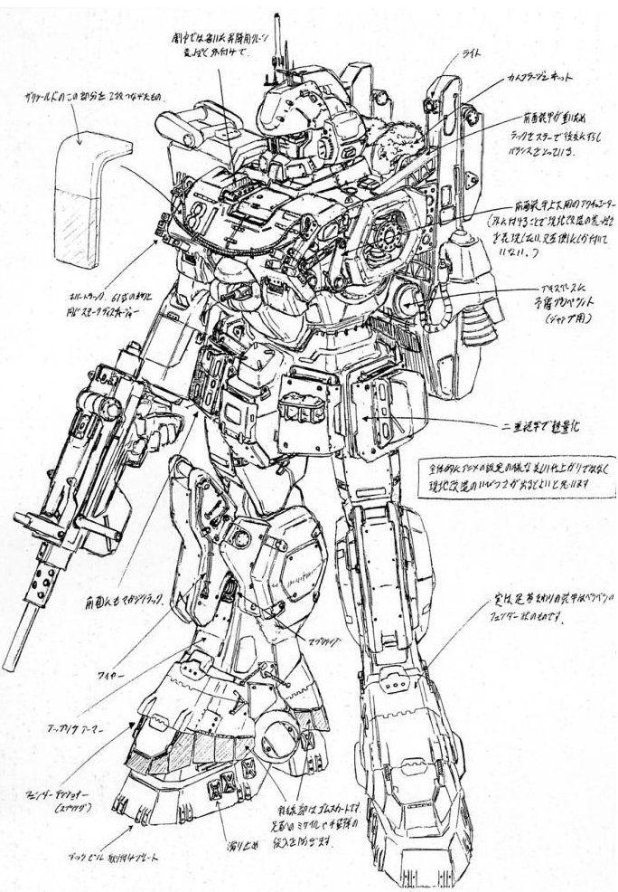 Gundam EZ-8 schematics