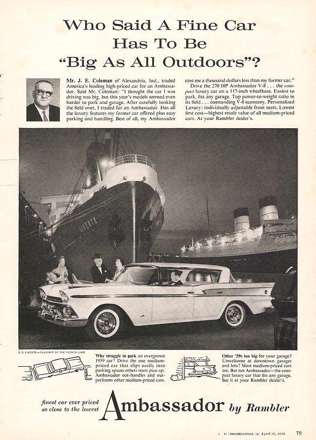 74 best Rambler Car Ads images on Pinterest   Ads, Old school cars ...
