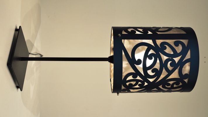Bruce Mackinnon Kura Gallery New Zealand Art Design Table Lamp Blue Kowhaiwhai Furniture