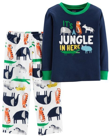 2d2ef48ae Toddler Boy 2-Piece Jungle Snug Fit Cotton & Fleece PJs from Carters.com.  Shop clothing & accessories from a trusted name in kids, toddlers, ...