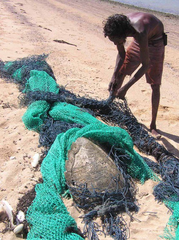We are working with GhostNets Australia and Indigenous rangers to identify hotspots in the Gulf of Carpentaria where ghostnets and turtles meet. Image: GhostNets Australia.