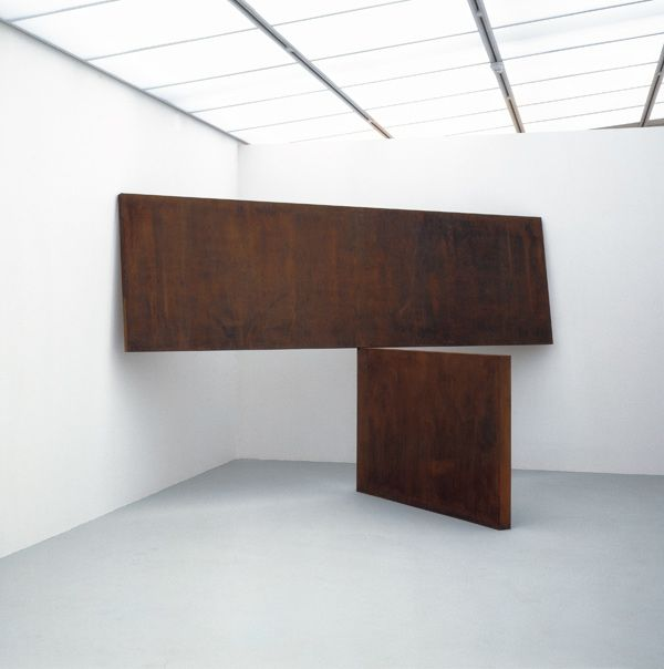 Kitty Hawk (Corten steel (2 plates), by Richard Serra, 1983 - in Saatchi Gallery, London, uk