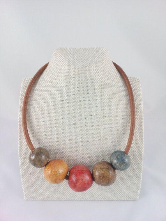 Romantic necklace in nostalgic autumn color palette by qbrixJewels